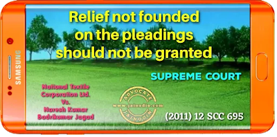 Relief not founded on the pleadings should not be granted