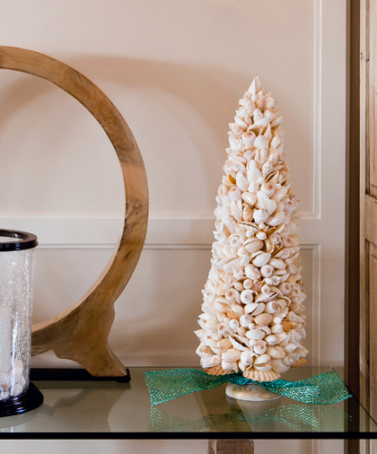 Seashell Cone Tree on Stand