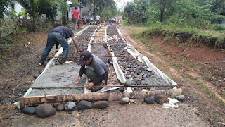 Pembangunan Cor Jalan Dusun Purwosari RT 02/RW 03 Tahun Anggaran 2020