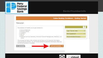 Enroll on Peru Federal Bank online banking
