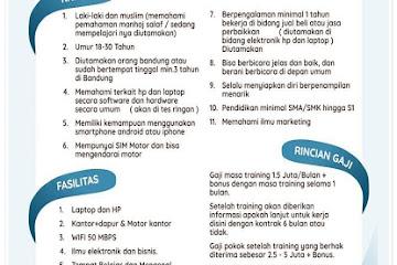 Lowongan Kerja Bandung Marketing Bang Amin Elektronik