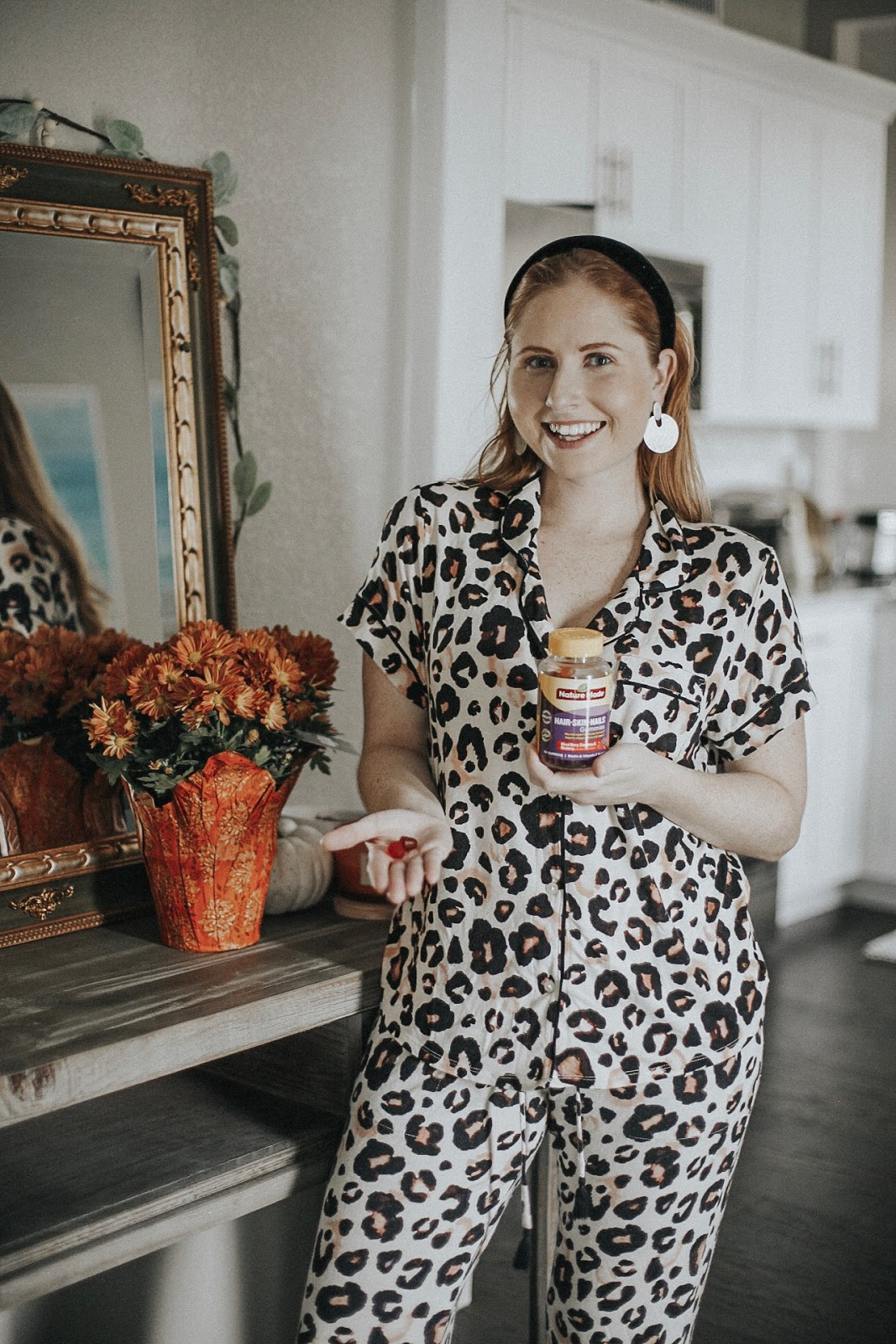 Leopard Print Soft Notch Collar Pajama Set Target