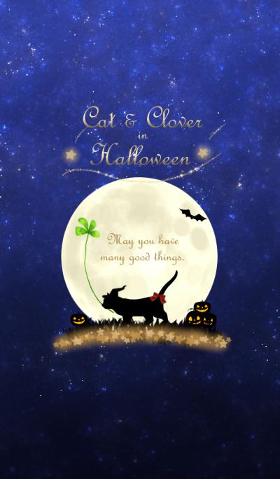 Cat & Clover in Halloween