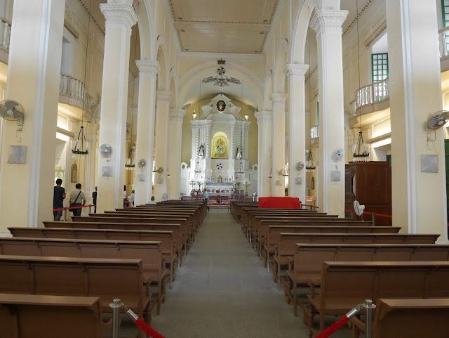 the sanctuary at St. Dominic's Church, Macau