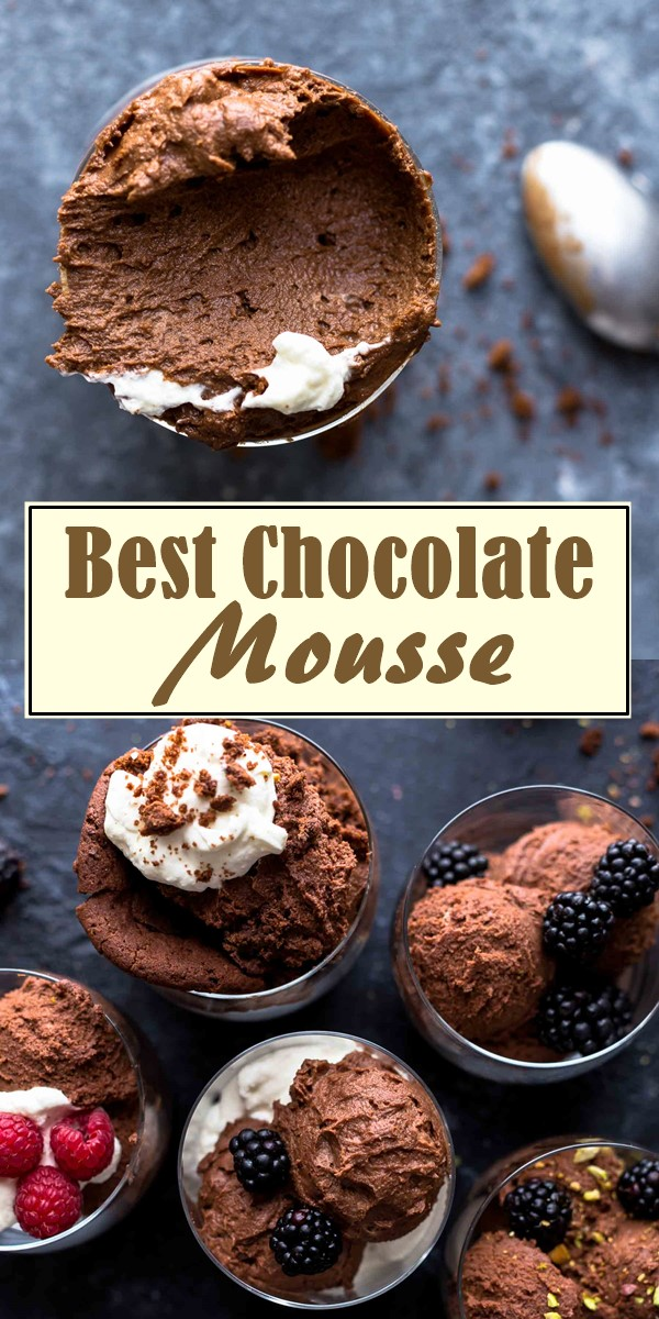 Best Chocolate Mousse Recipe #dessertrecipes