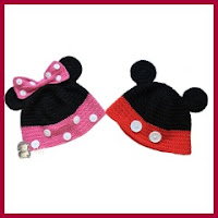 GORROS MINNIE Y MICKEY A CROCHET EN CASTELLANO