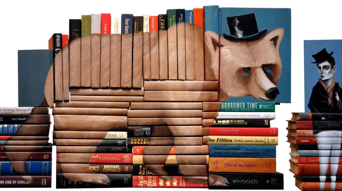 11-Mike-Stilkey-Books-used-as-Canvasses-for-Paintings-www-designstack-co