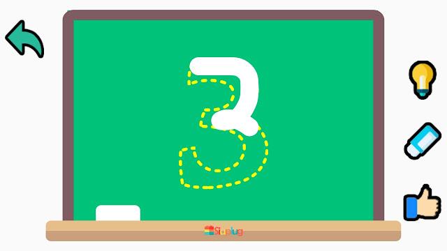123 Write Numbers - Aplikasi Belajar Menulis Angka untuk Perangkat Android