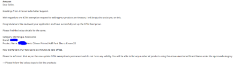 gtin exemption support letter for brand,gtin exemption amazon india