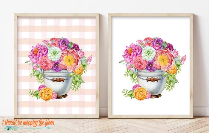 Flower Bucket Printable