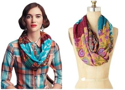 Unir 2 pañuelos de tela con tejido motivos a crochet