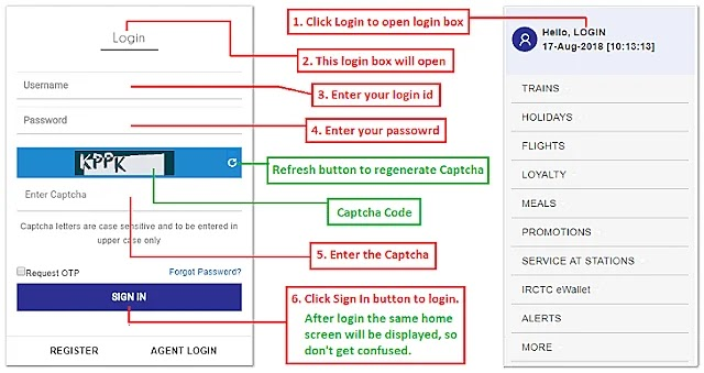 IRCTC Login | IRCTC next generation login new websiteTips for Fast IRCTC Account Login