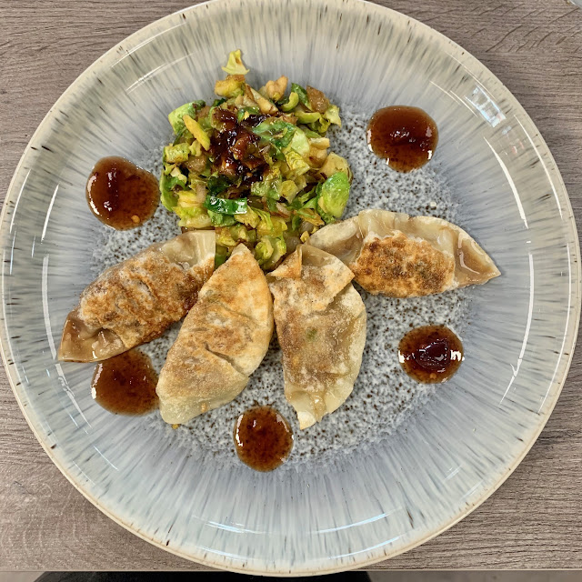 Turkey Gyoza and The BEST Sprouts EVER made by SweetieSal