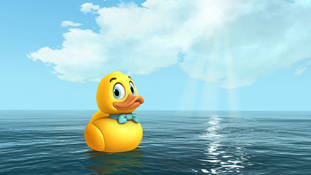 "Focused on the Magic | Disney Junior will debut ""Lucky Duck,"" the first Disney Junior Original Movie on Friday, June 20th. ""Lucky Duck"" is an exciting adventure movie with a heart-warming message about never giving up, despite all odds. Leading the voice cast are Broadway and television stars Christian Borle, Megan Hilty and Tom Cavanagh."