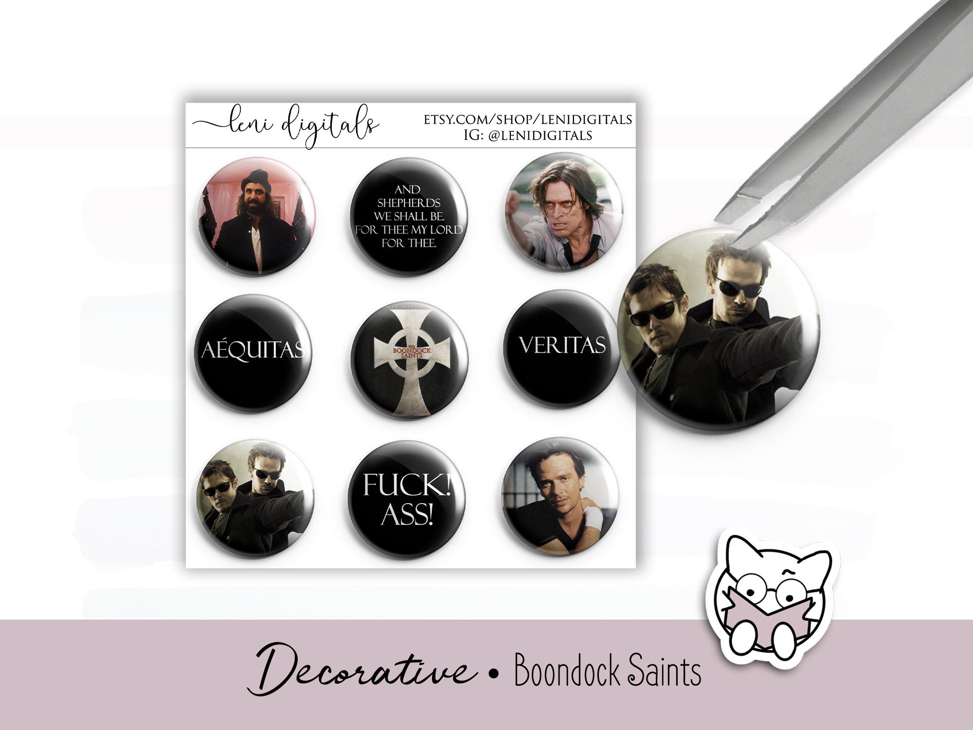 Boondock Saints free digital sticker download for digital planners.