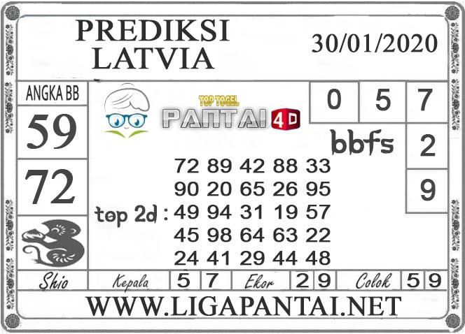 PREDIKSI TOGEL LATVIA PANTAI4D 30 JANUARI 2020