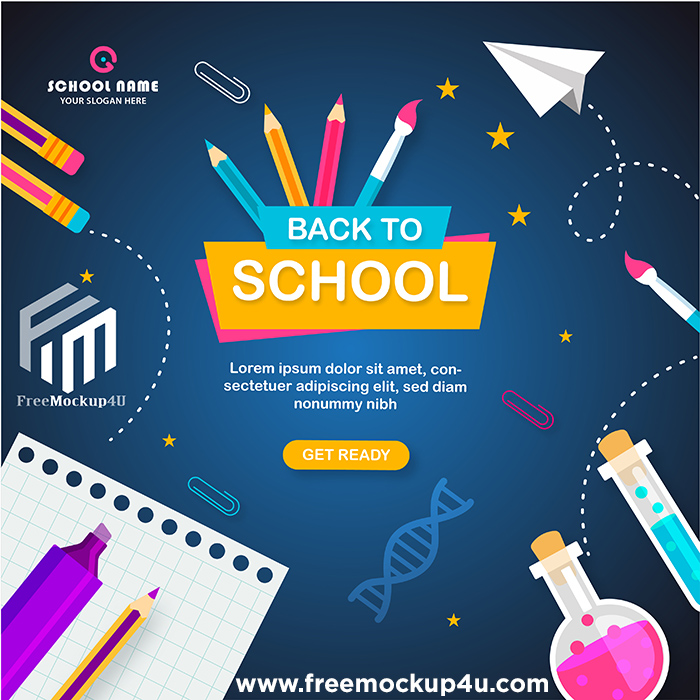 Back To School Admission Social Media Post Or Instagram Post Design Template AI