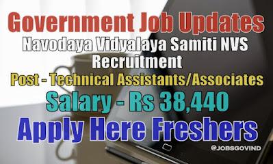 NVS Recruitment 2021