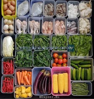 buah sayur dan bahan lainnya yang ada di pasar