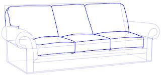 Teknik Cepat Menggambar Kursi Sofa