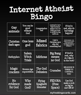 Internet Atheist Bingo