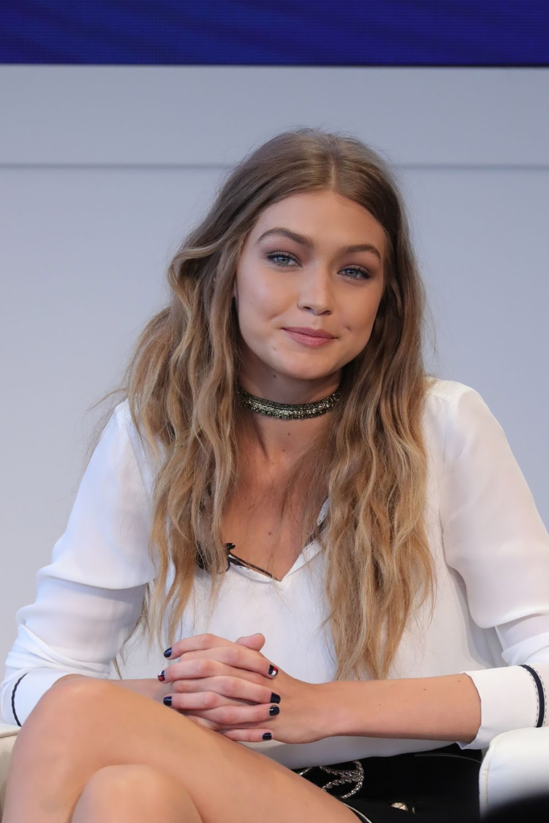 HQ Images of Gigi Hadid At Tommy X Gigi Collection Press Conference In New York