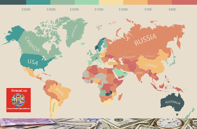 dünya ülkeleri çalışan ücretleri