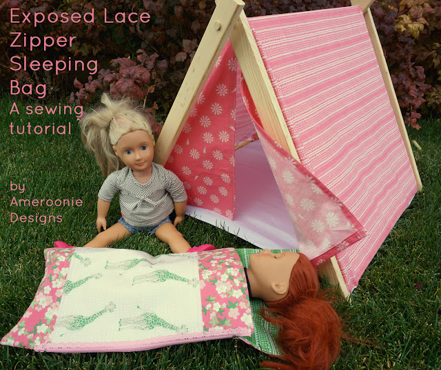 "tutorial to sew a sleeping bag for 18"" dolls"