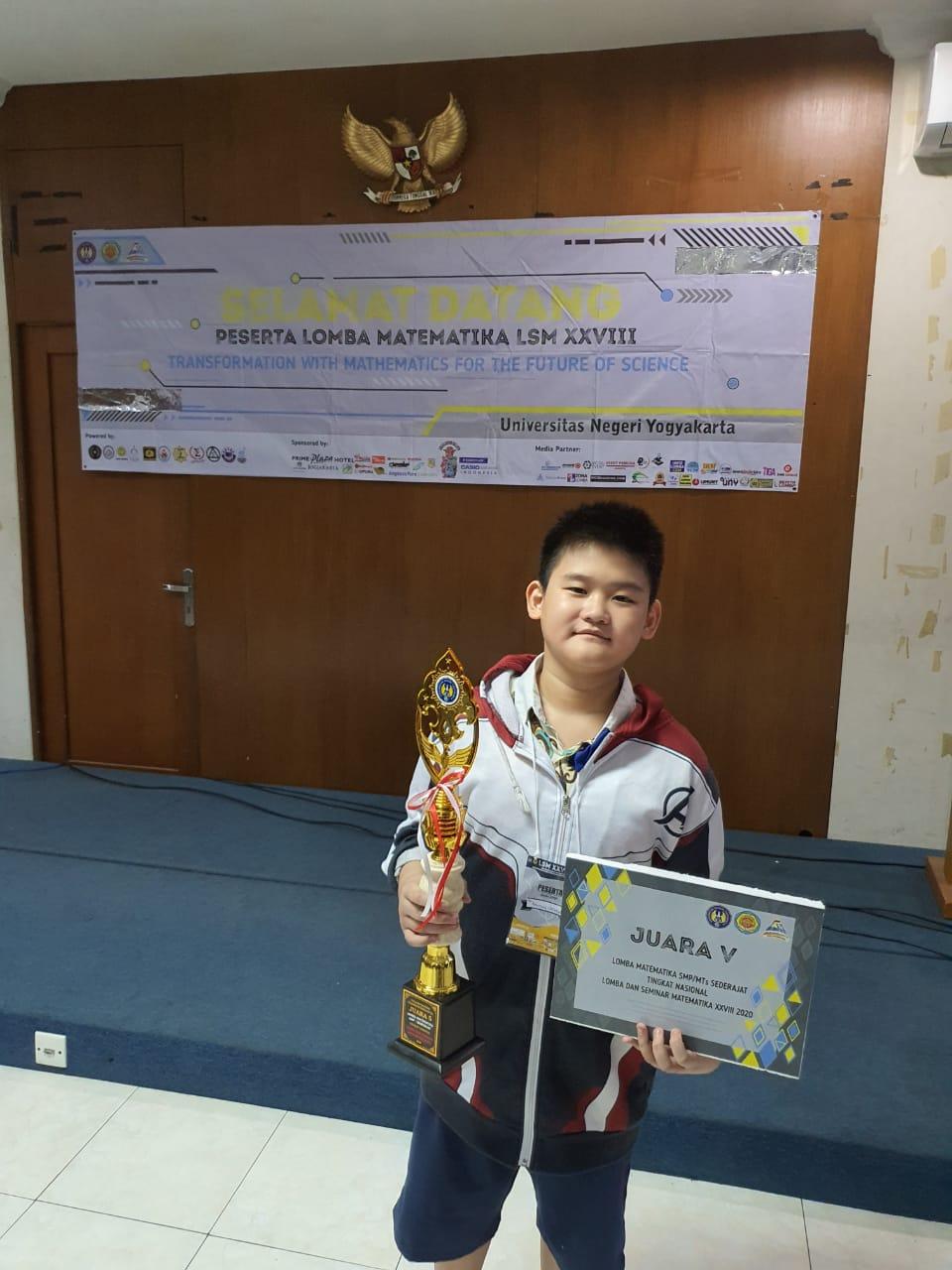 Raymond, Siswa SMP Kalam Kudus, Menorehkan Prestasi dalam Lomba dan Seminar Matematika (LSM) Tingkat Nasional
