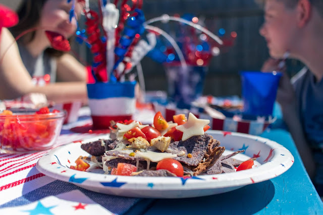 How to Make Red, White, and Blue Nachos on Your Grill!