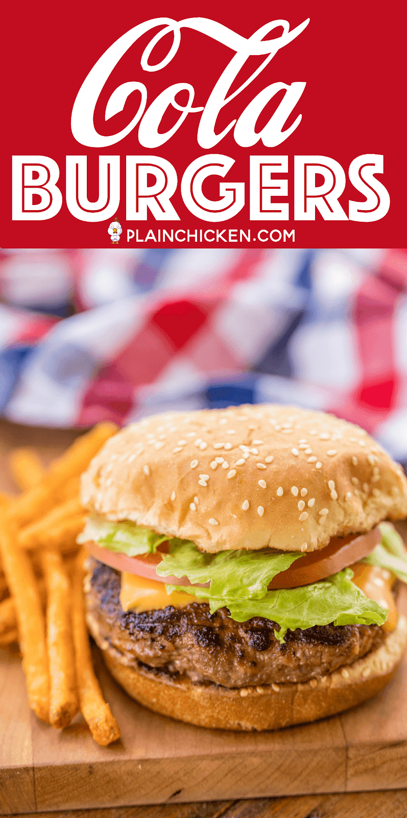 Cola Burgers - seriously delicious!! Ground beef, coke, French dressing, saltine crackers, and parmesan cheese. Top with your favorite cheese!! Can make patties ahead of time and freeze for later. Great for all your cookouts and tailgates! YUM! #burgers #grilling #tailgating #cookout
