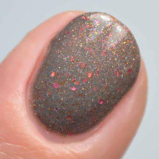 gray glitter nail polish