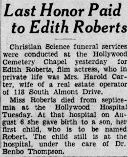 Edith Roberts Death