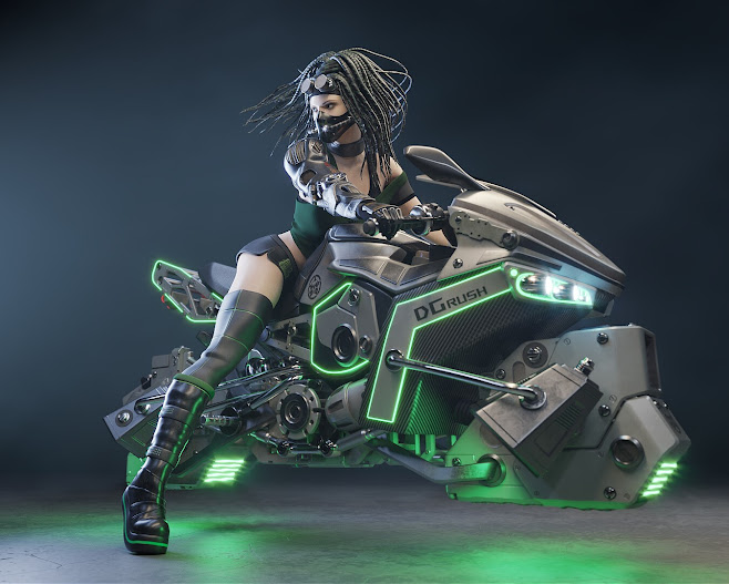 Cybergoth Hoverbike - Arsen Avoyan