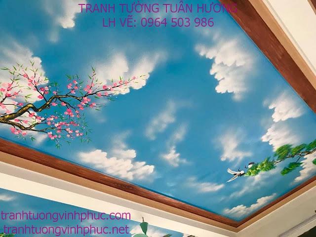 vẽ trần mây 3d tại tuân chính vĩnh tường vĩnh phúc2