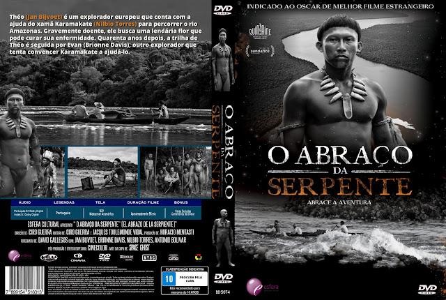 Capa DVD A Abraço Da Serpente