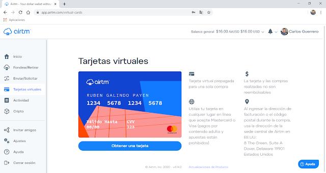 Como solicitar una tarjeta de credito virtual en 2020