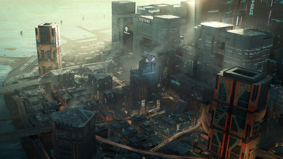 Cyberpunk 2077 City Buildings 4k Wallpaper 3 2259