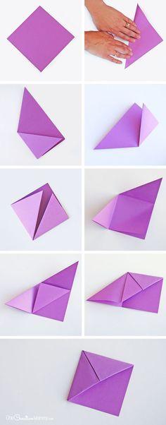 origami kitap ayracı