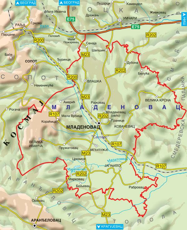 sumadija mapa Mladenovac | Mladenovac   tourism sumadija mapa