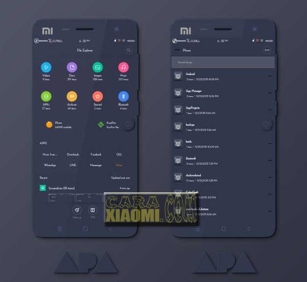 Theme MIUI ApA Mtz For Xiaomi.
