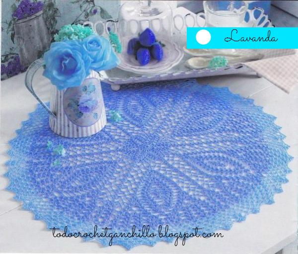 Patron de carpeta redonda crochet
