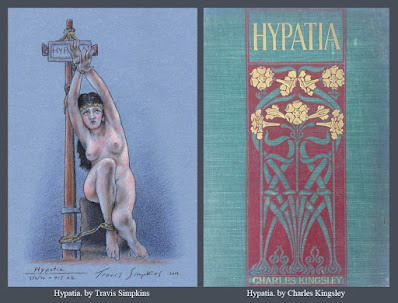 Hypatia. 415 AD. Hellenistic Neoplatonist Philosopher, Astronomer and Mathematician. by Travis Simpkins
