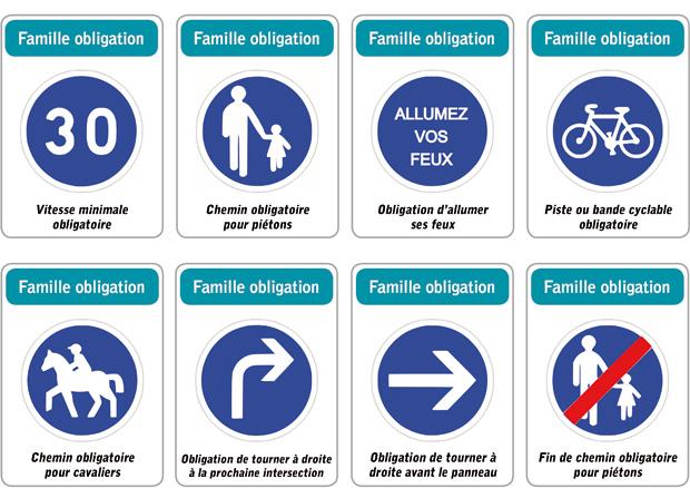 Znaki drogowe - znaki nakazu - Francuski przy kawie