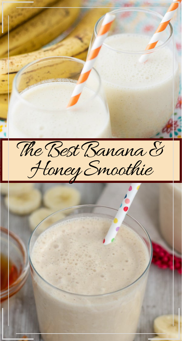 The Best Banana & Honey Smoothie  #healthydrink #easyrecipe #cocktail #smoothie