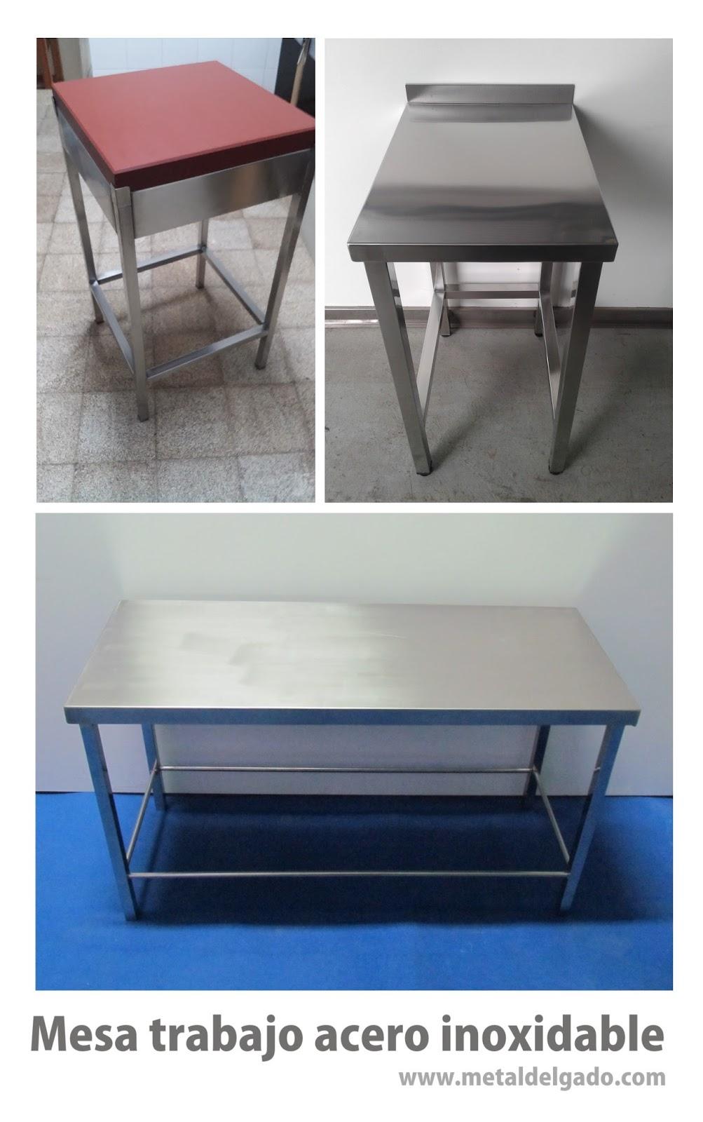 Acero inoxidable tenerife mesas de trabajo en acero for Mesa cocina tenerife