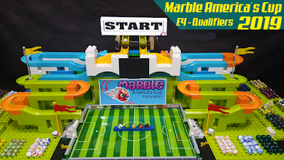 MARBLE RACE: America's Cup 2019 Qualifiers E4 - MARBLE SOCCER Collision