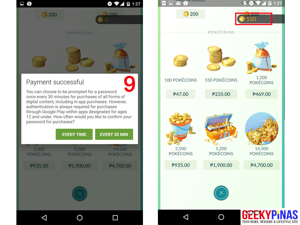 Buy Pokemon GO PokeCoins using Globe Prepaid Load steps