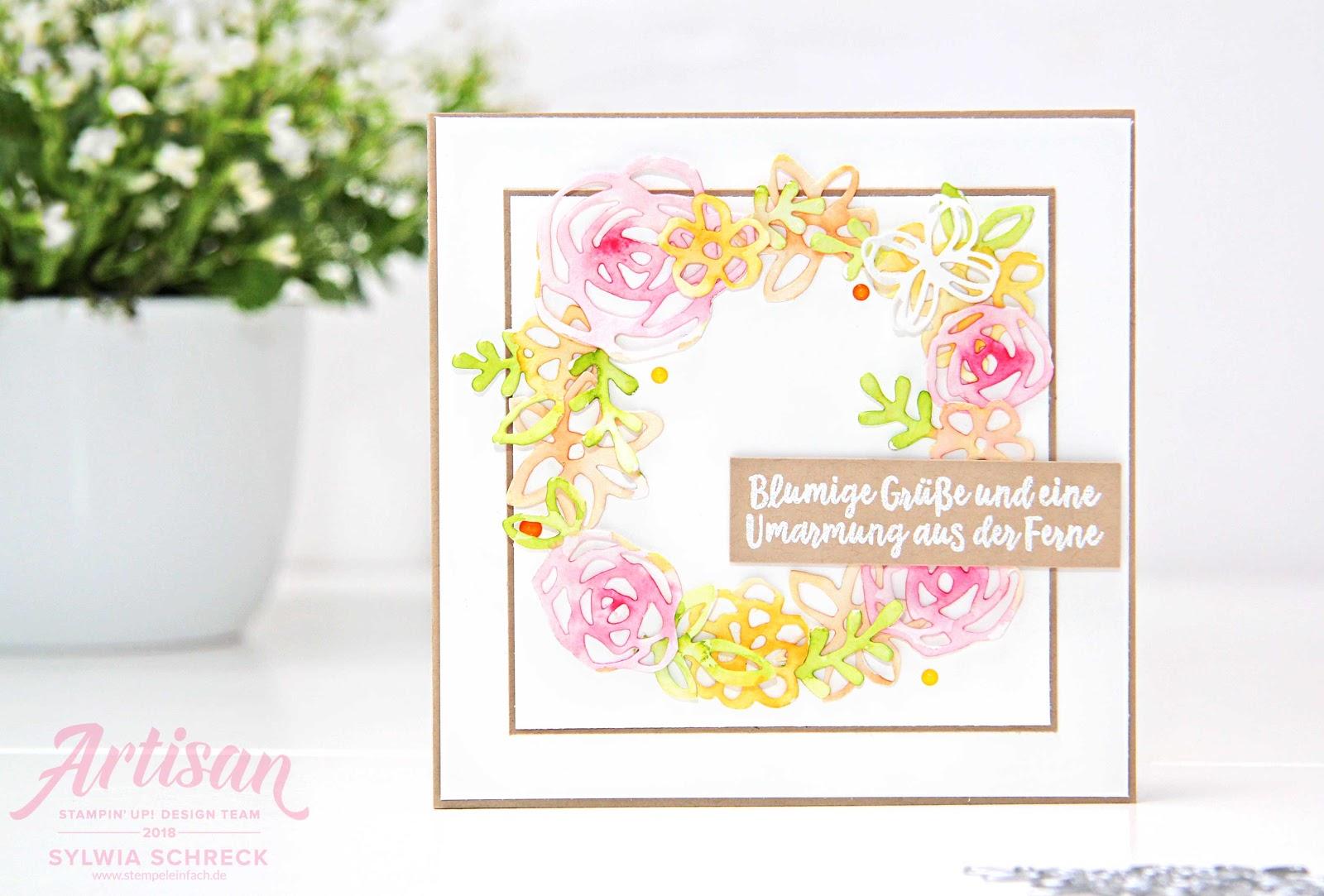 Blumige Karte - Stampin Up Fruehlingsfreuden