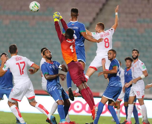 ملخص اهداف مباراة تونس وغينيا الاستوائية (3-0) تصفيات كاس العالم